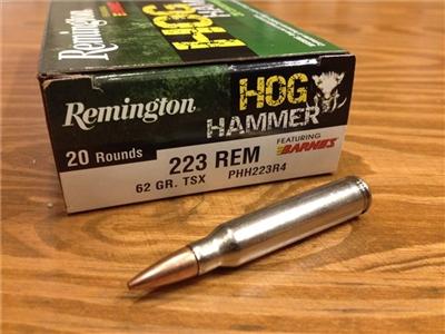 223 Rem 62gr Hog Hammer Tsx Lead Free 20 Rounds